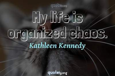 Photo Quote of My life is organized chaos.