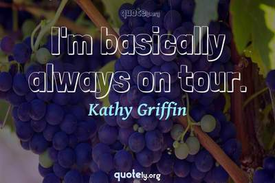 Photo Quote of I'm basically always on tour.