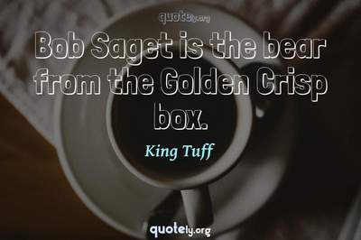 Photo Quote of Bob Saget is the bear from the Golden Crisp box.