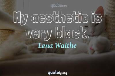 Photo Quote of My aesthetic is very black.