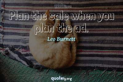 Photo Quote of Plan the sale when you plan the ad.