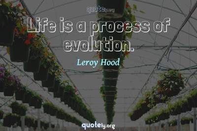 Photo Quote of Life is a process of evolution.