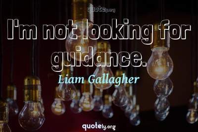 Photo Quote of I'm not looking for guidance.
