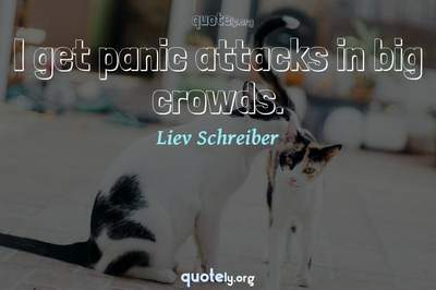 Photo Quote of I get panic attacks in big crowds.