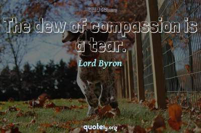 Photo Quote of The dew of compassion is a tear.