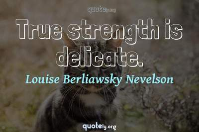 Photo Quote of True strength is delicate.