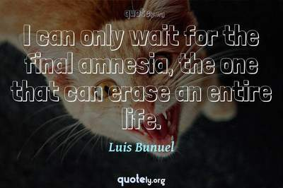 Photo Quote of I can only wait for the final amnesia, the one that can erase an entire life.
