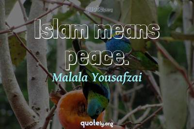 Photo Quote of Islam means peace.