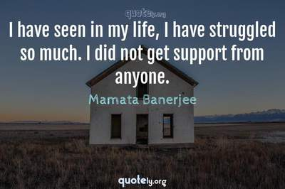 Photo Quote of I have seen in my life, I have struggled so much. I did not get support from anyone.