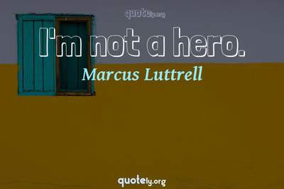 Photo Quote of I'm not a hero.