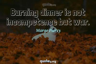 Photo Quote of Burning dinner is not incompetence but war.