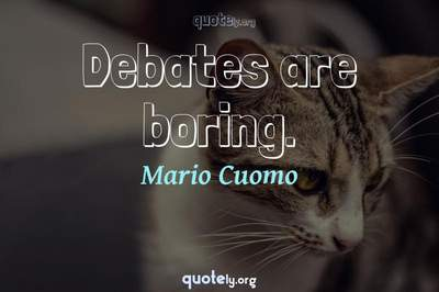Photo Quote of Debates are boring.