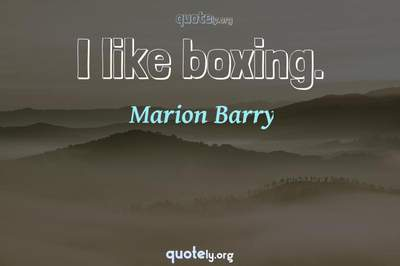 Photo Quote of I like boxing.