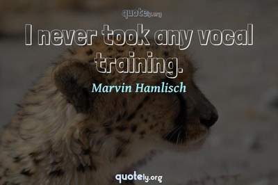 Photo Quote of I never took any vocal training.