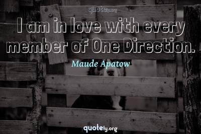 Photo Quote of I am in love with every member of One Direction.