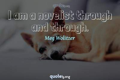 Photo Quote of I am a novelist through and through.