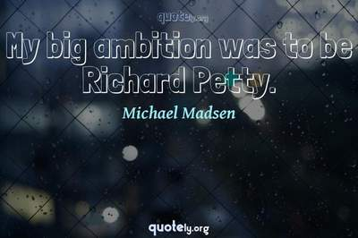 Photo Quote of My big ambition was to be Richard Petty.