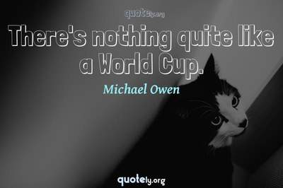 Photo Quote of There's nothing quite like a World Cup.