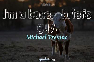 Photo Quote of I'm a boxer-briefs guy.