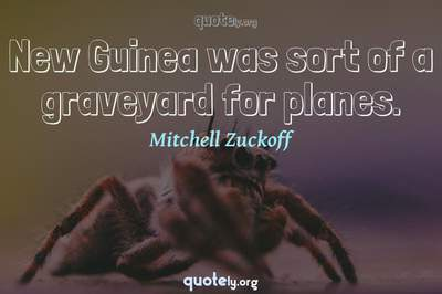 Photo Quote of New Guinea was sort of a graveyard for planes.