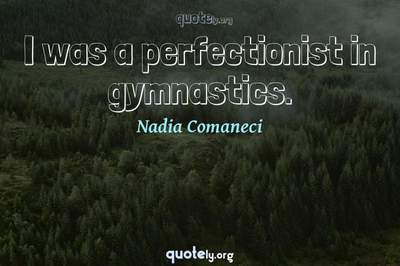 Photo Quote of I was a perfectionist in gymnastics.
