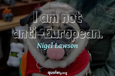 Photo Quote of I am not anti-European.