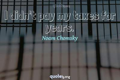 Photo Quote of I didn't pay my taxes for years.