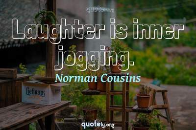 Photo Quote of Laughter is inner jogging.