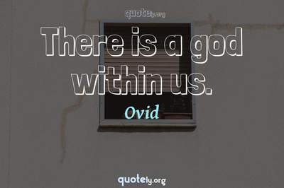 Photo Quote of There is a god within us.