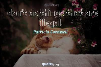 Photo Quote of I don't do things that are illegal.