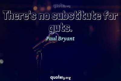 Photo Quote of There's no substitute for guts.