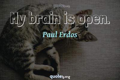 Photo Quote of My brain is open.