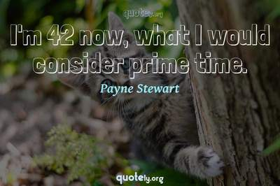 Photo Quote of I'm 42 now, what I would consider prime time.