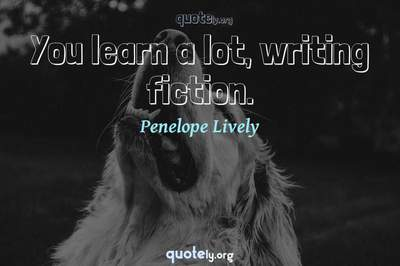 Photo Quote of You learn a lot, writing fiction.