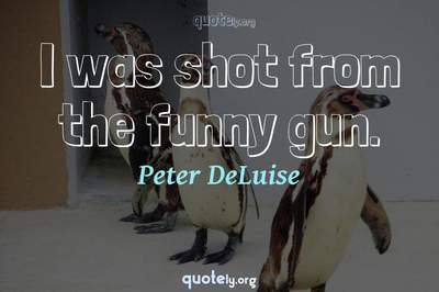 Photo Quote of I was shot from the funny gun.