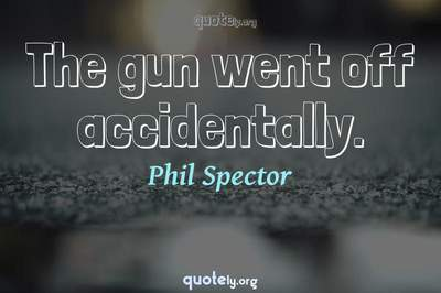 Photo Quote of The gun went off accidentally.