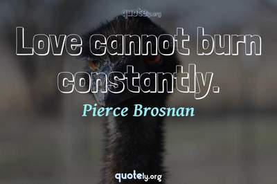 Photo Quote of Love cannot burn constantly.