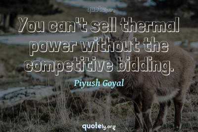 Photo Quote of You can't sell thermal power without the competitive bidding.