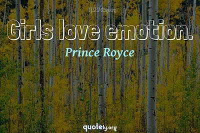 Photo Quote of Girls love emotion.