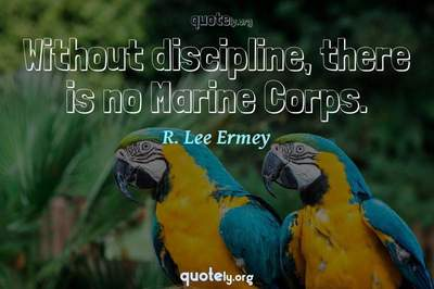 Photo Quote of Without discipline, there is no Marine Corps.
