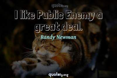 Photo Quote of I like Public Enemy a great deal.