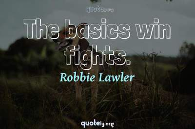 Photo Quote of The basics win fights.