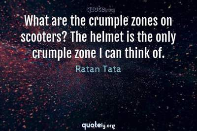 Photo Quote of What are the crumple zones on scooters? The helmet is the only crumple zone I can think of.