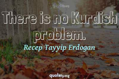 Photo Quote of There is no Kurdish problem.