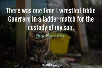 Photo Quote of There was one time I wrestled Eddie Guerrero in a ladder match for the custody of my son.