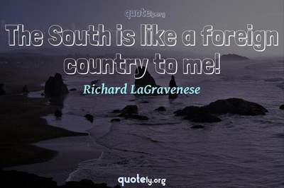 Photo Quote of The South is like a foreign country to me!