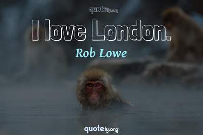 Photo Quote of I love London.