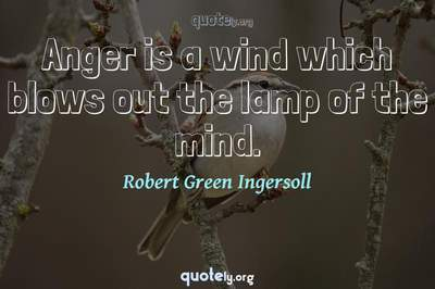 Photo Quote of Anger is a wind which blows out the lamp of the mind.