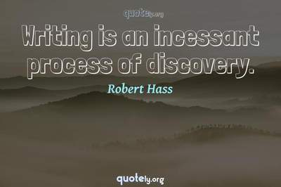 Photo Quote of Writing is an incessant process of discovery.
