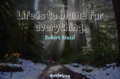 Photo Quote of Life is to blame for everything.